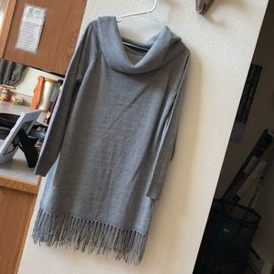 Neiman Marcus Cowl Neck Cashmere Sweater Dress